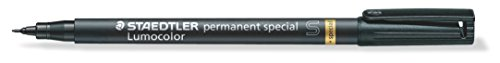 Staedtler 319 S 9 Universal Fineliner Pen LUMOCOLOR Permanent Special – Black, 0.4 mm from STAEDTLER
