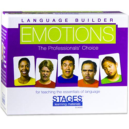 STAGES LEARNING MATERIALS SLM003 Language Builder Emotion Picture Expressions, Conversation, and Situation Photo Cards for Autism Education, ABA Therapy from STAGES LEARNING MATERIALS
