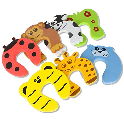 STARVAST Door Stopper, 7Pcs Child Safety Animal Cushion Hinge Door Stop/Decorative Rubber Cat Finger Protector/Pinch Finger Guard Security from STARVAST