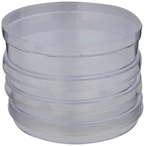 PETRI DISHES DISPOSABLE (90mm DIA) CLEAR PLASTIC SINGLE VENT PACK OF 20 from STERLIN