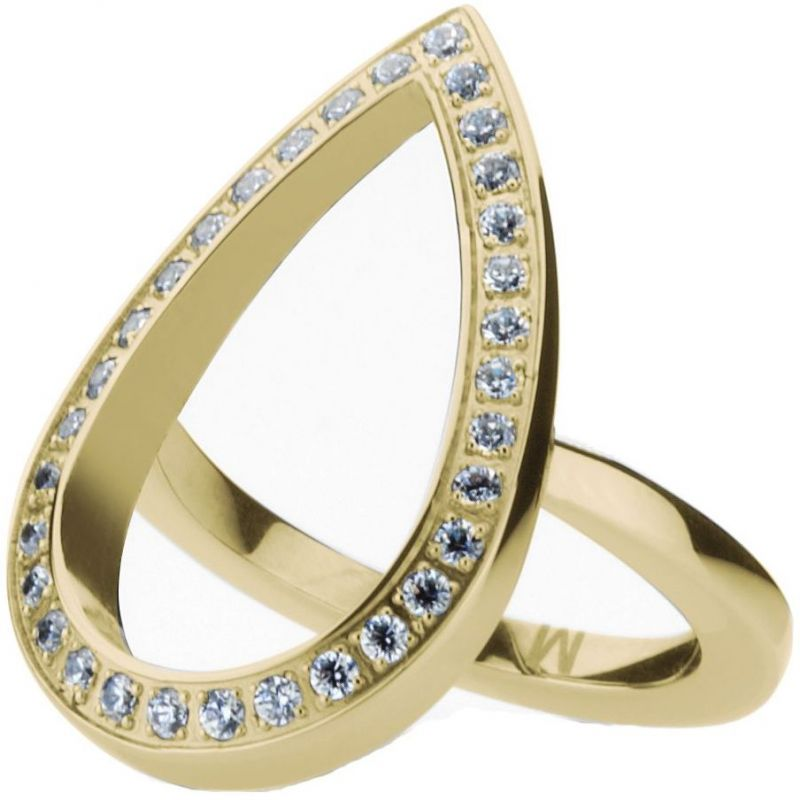 Ladies STORM Gold Plated Elipsia Ring Size M from STORM Jewellery