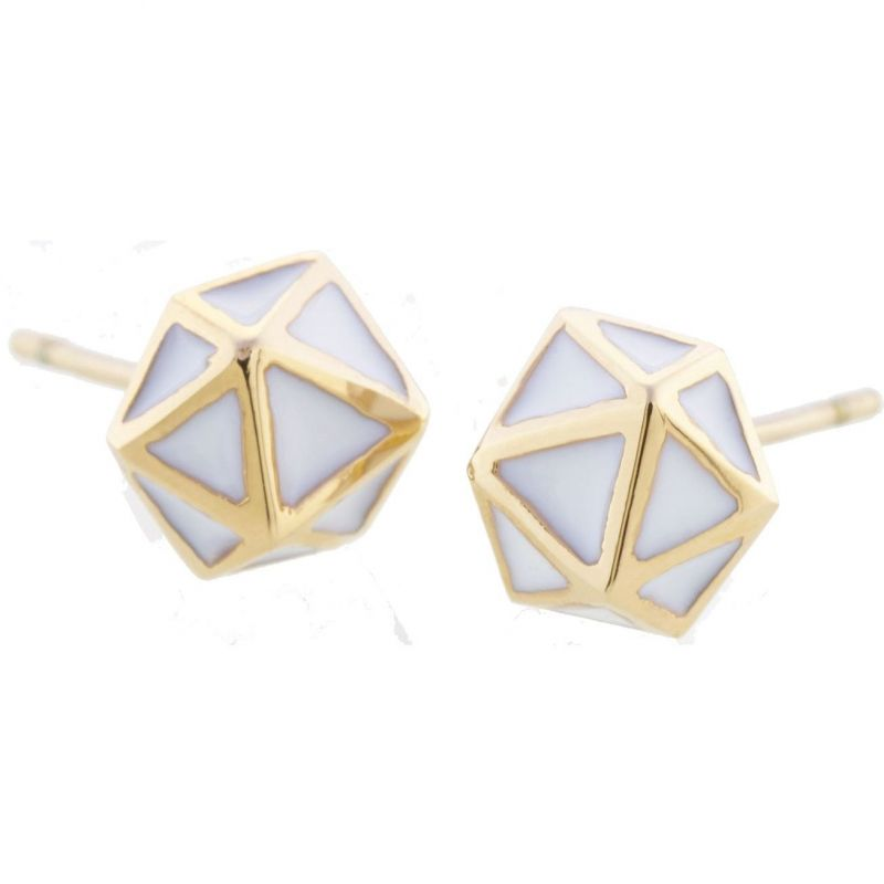 Ladies STORM Gold Plated Geo Earrings from STORM Jewellery
