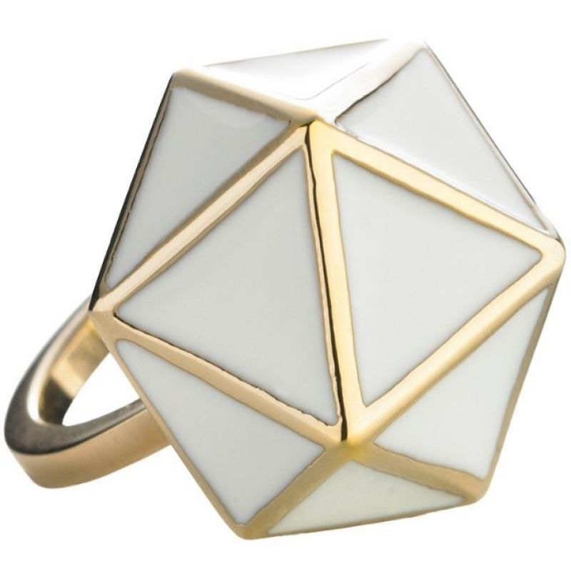 Ladies STORM Gold Plated Geo Ring Size L from STORM Jewellery