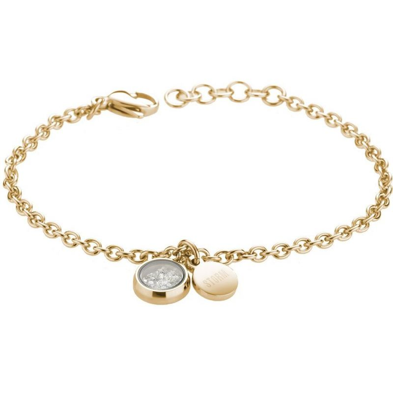 Ladies STORM PVD Gold plated Mimi Bracelet MIMI-BRACELET-GOLD from STORM Jewellery