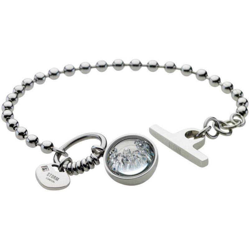 Ladies STORM PVD Silver Plated Crysta Ball Bracelet from STORM Jewellery