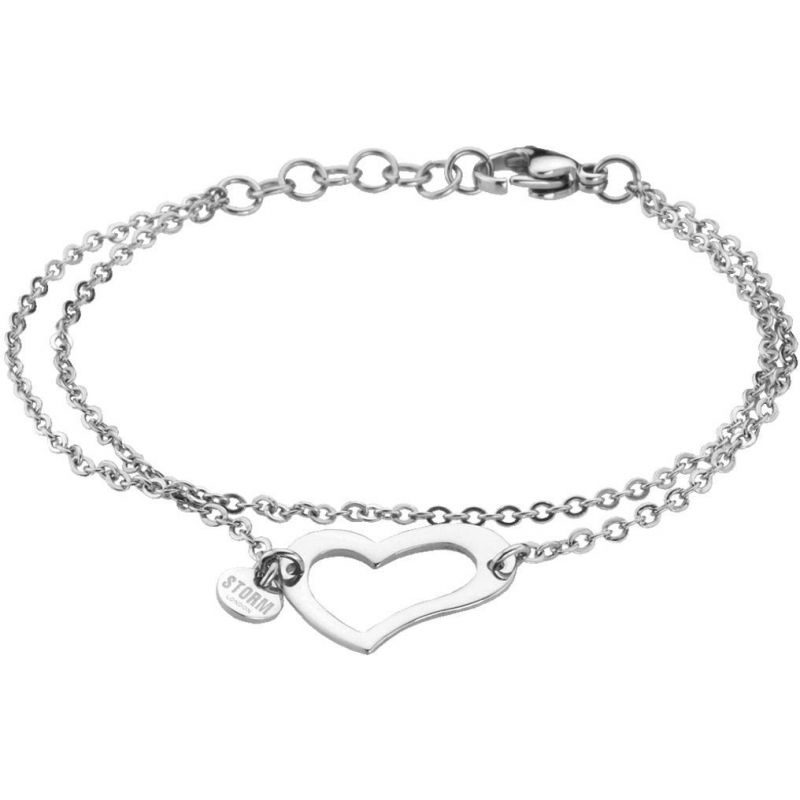 Ladies STORM PVD Silver Plated Heart Bracelet from STORM Jewellery