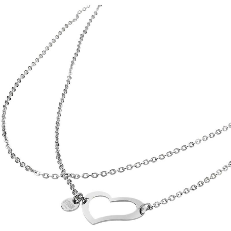 Ladies STORM PVD Silver Plated Heart Necklace from STORM Jewellery
