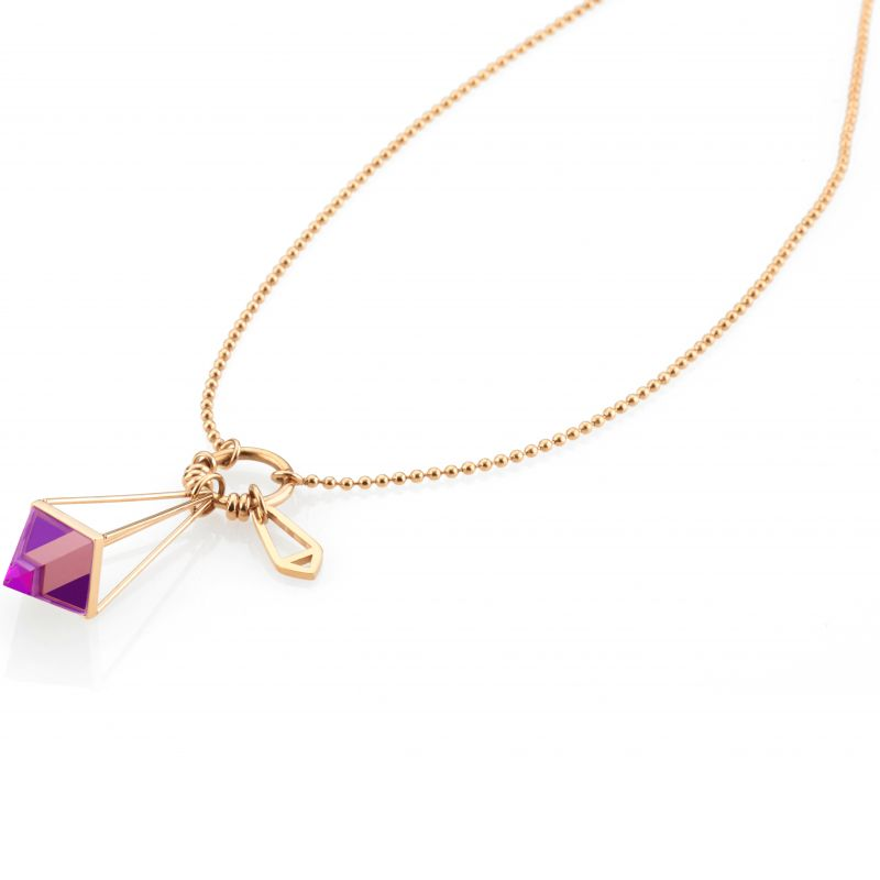 Ladies STORM PVD rose plating Marizza Necklace from STORM Jewellery