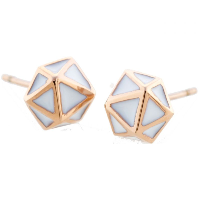 Ladies STORM Rose Gold Plated Geo Earrings from STORM Jewellery