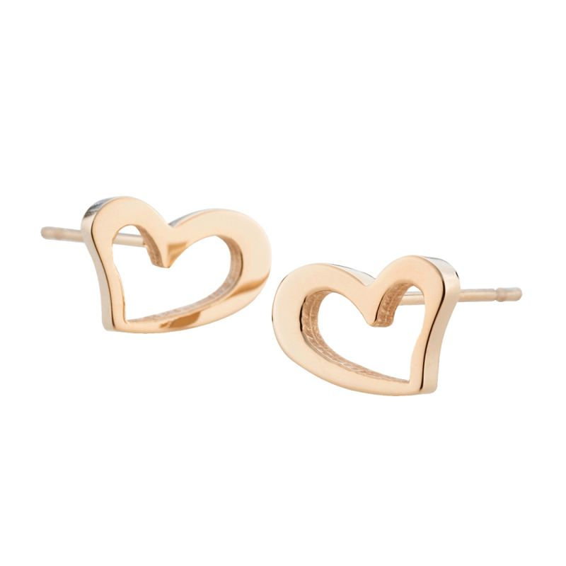 Ladies STORM Rose Gold Plated Heart Stud Earrings from STORM Jewellery