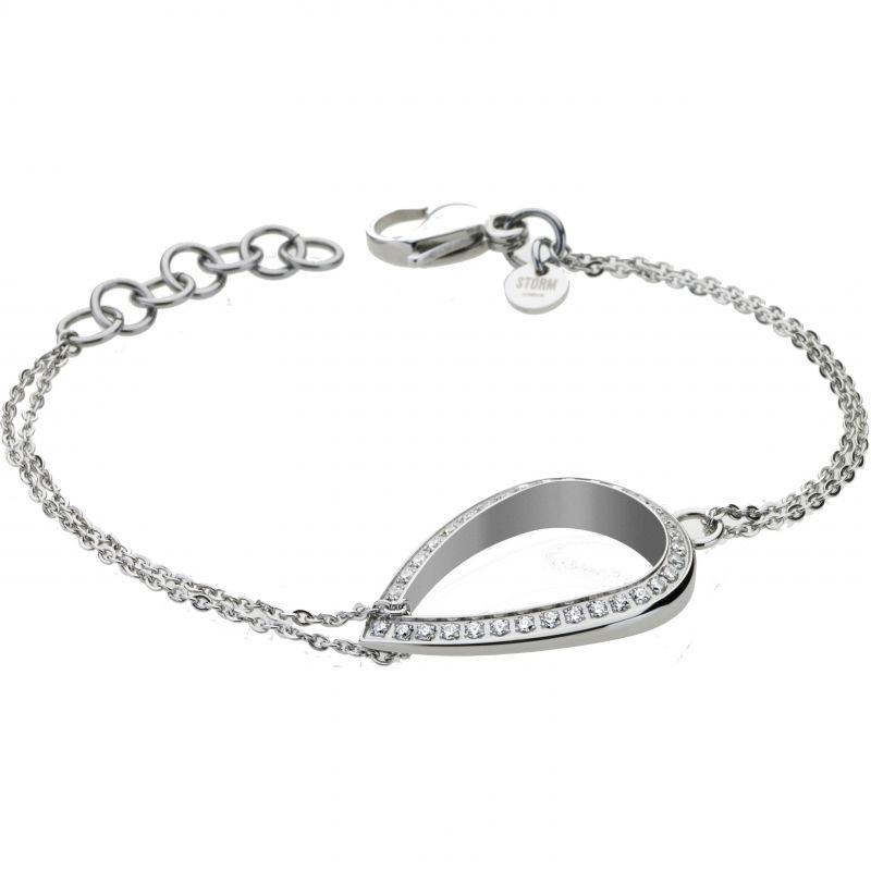 Ladies STORM Silver Plated Elipsia Bracelet from STORM Jewellery