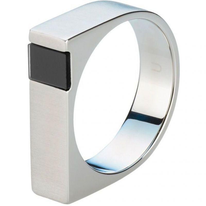 Ladies STORM Stainless Steel Jaxton Ring Size V from STORM Jewellery