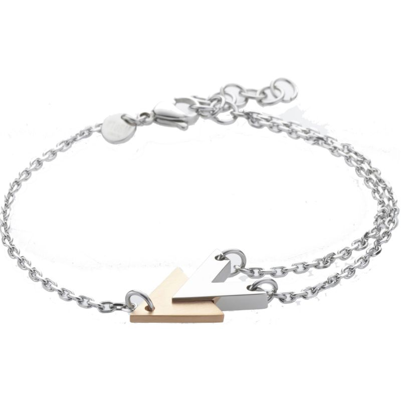 Ladies STORM Two-Tone Steel and Rose Plate Venus Bracelet from STORM Jewellery