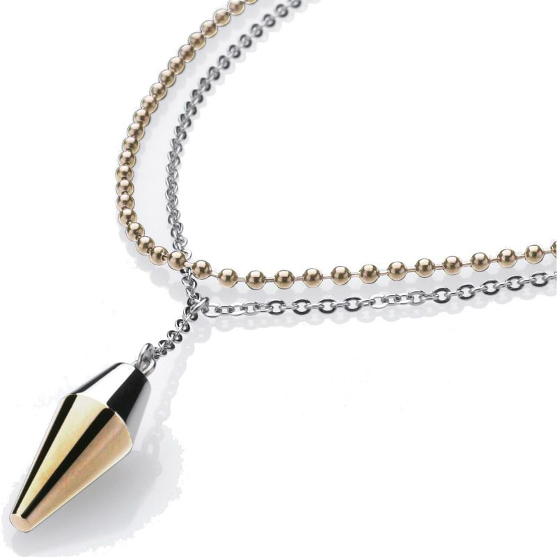 Ladies STORM Two-tone steel/gold plate Pendulum Necklace from STORM Jewellery