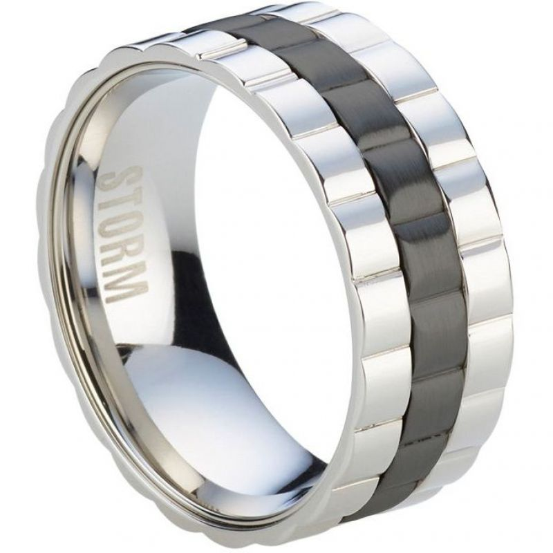 Mens STORM Stainless Steel Velo Ring Size S from STORM Jewellery