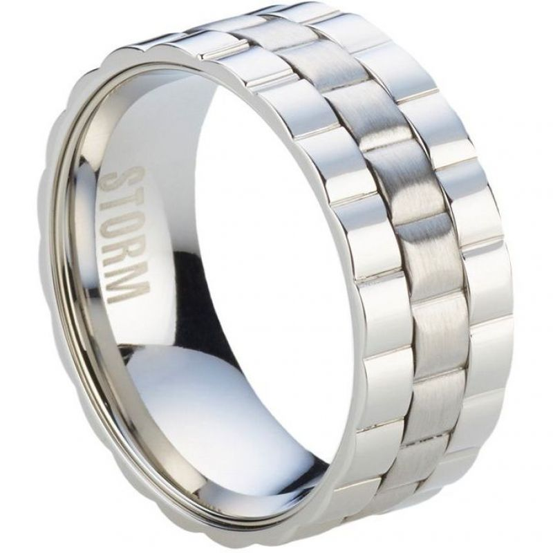 Mens STORM Stainless Steel Velo Ring Size U from STORM Jewellery