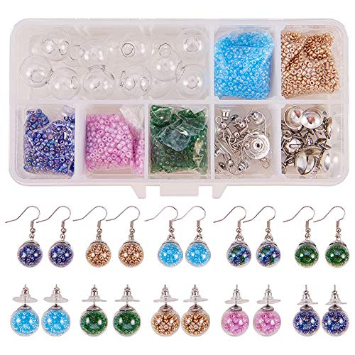 Lead Free SUNNYCLUE DIY 5 Sets Wooden Stringing Beads Beaded Stretch Bracelet Necklace Making Kits for Girls Princess Party Favor Play Jewelry