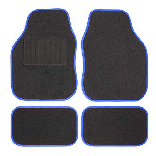 Safe Travel 27651 Universal Car Mats, Left Hand Drive (LHD), Welded Heel, Blue Binding from Safe Travel