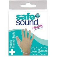 Safe and Sound Plastic Finger Stall Medium 2 pack from Safe and Sound