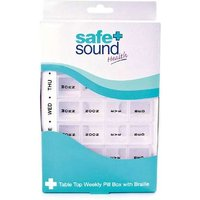 Safe and Sound Table Top Weekly Pill Box with Braille from Safe and Sound