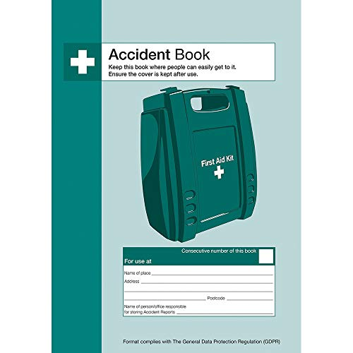 Safety First Aid Group A4 Accident Reporting Book - Data Protection Compliant (53 Forms) from Safety First Aid Group