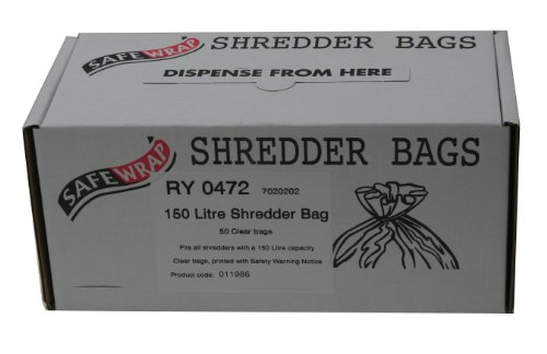Safewrap 150 L Shredder Bags RY0472 - Pack of 50 from Safewrap