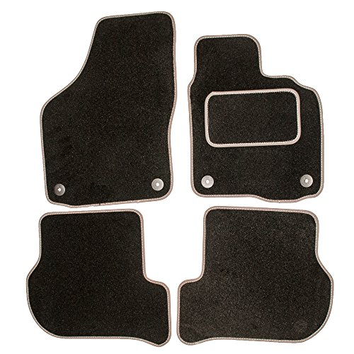 Sakura SS4970GY Car Mats with Drivers Side Carpet Heel Pad, Black/ Grey Trim fits JAG S TYPE 02 ON from Sakura