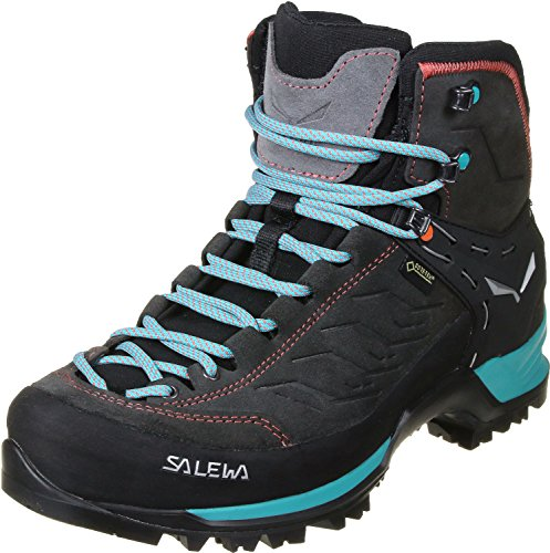 Salewa Women's Ws MTN Trainer Mid Gore-Tex High Rise Hiking Shoes, Multicolor (Walnut/Swing )