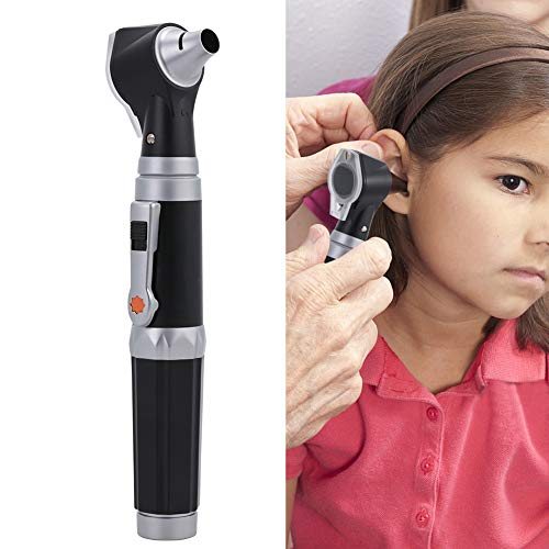 Ear Check Magnifier with LED, 3x Magnification Visual Otoscope, Inspection & Wax Remover, 4 types of Otoscope Head for Ear Examination, Good for Checking ear / nose, FDA Approved from Salmue