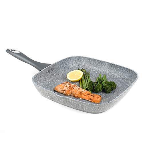 Salter BW02773G Marble Collection Forged Aluminium Non Stick Griddle Pan, 28 cm, Grey from Salter