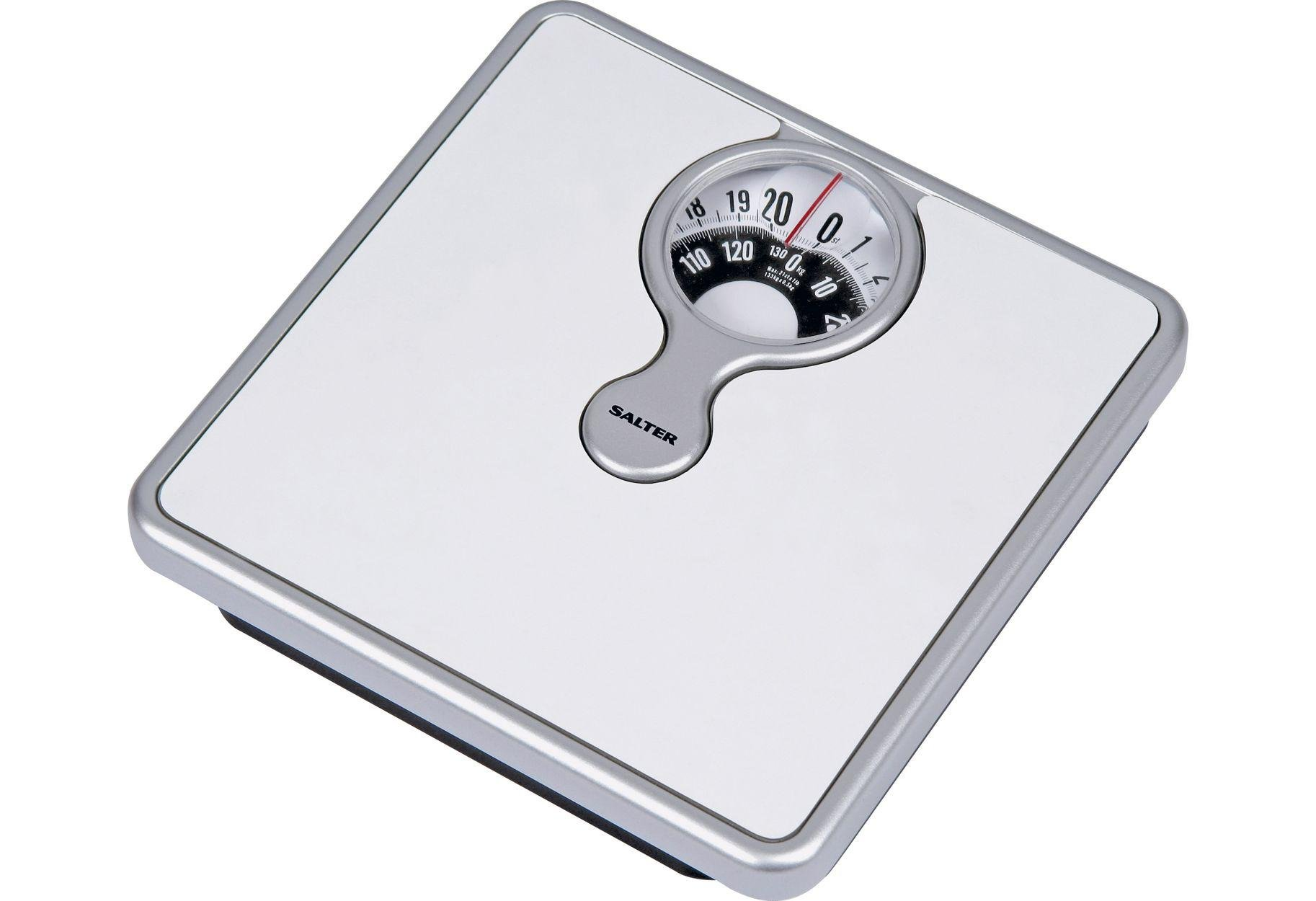 Salter Magnifying Mechanical Bathroom Scales - White & Silv from Salter