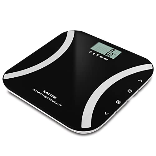 Salter Ultimate Accuracy Digital Analyser Scales - Measure 50g Increments, Step-On Instant Reading of Weight, Body Fat, Water, Lean Mass, BMI, BMR + Athlete Mode, 12 User Memory, 15 Year Guarantee from Salter