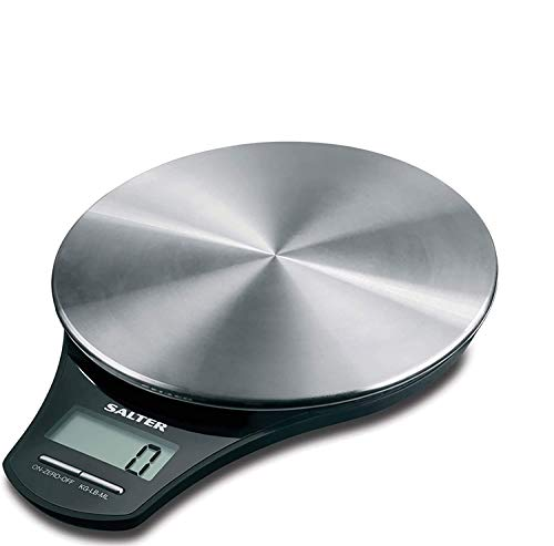 Stainless Steel Platform Electronic Kitchen Scale by Salter- Silver from Salter