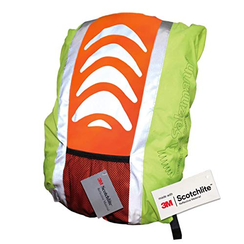 Salzmann 3M Scotchlite Reflective Backpack Cover,  Yellow/ Orange, Standard (up to 36L) from Salzmann
