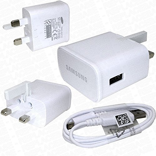 Samsung Galaxy A3 and A3(2016) - 100% NEW GENUINE ORIGINAL AUTHENTIC SAMSUNG® CHARGER 2.0 AMP WALL UK CHARGER AND DATA CABLE (100% Genuine UK Mains Charger) from Samsung