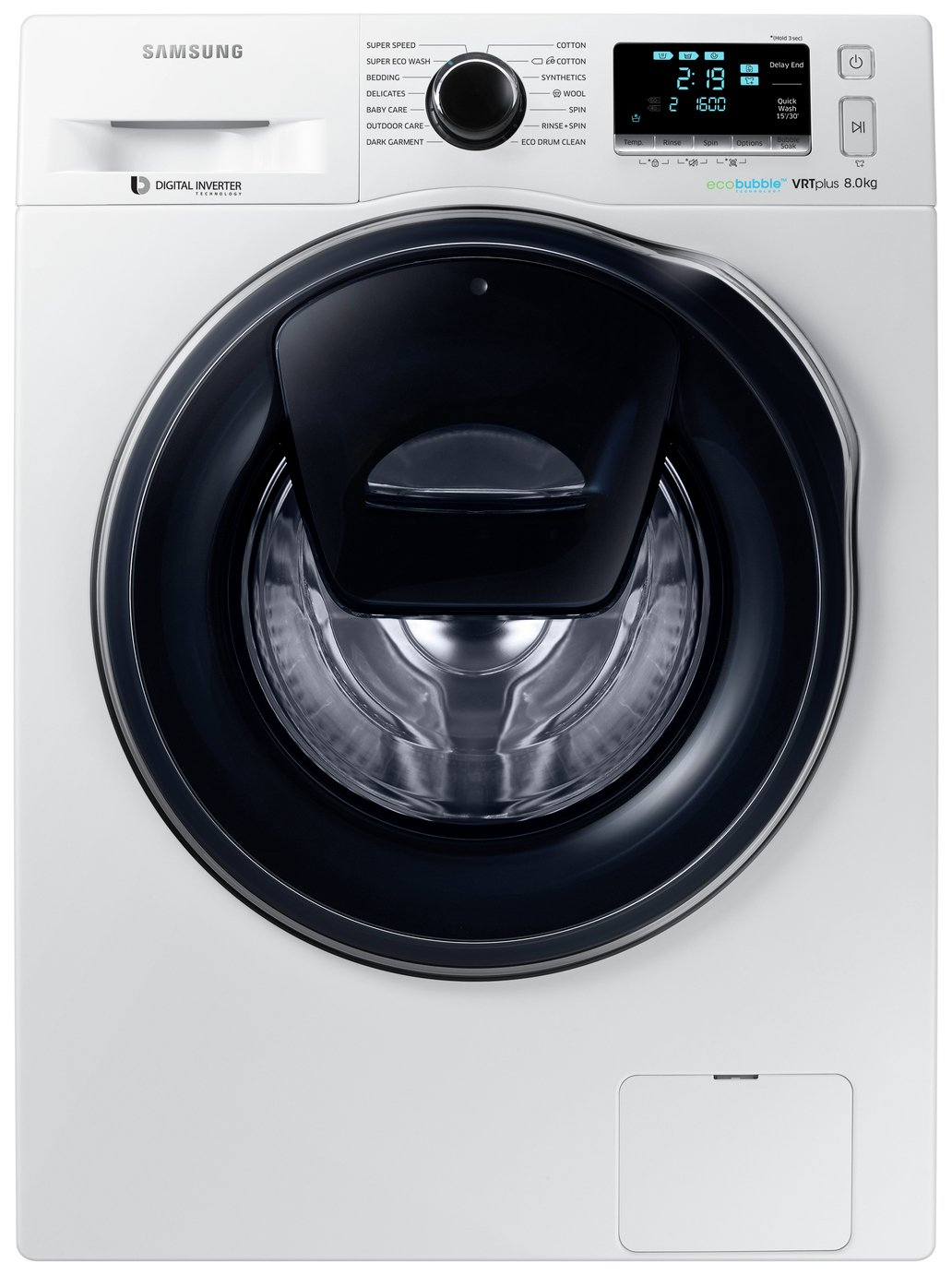 Samsung - AddWash WW80K6610QW 8Kg 1600 Spin - Washing Machine from Samsung