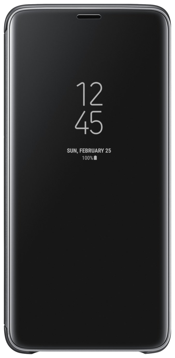 Samsung S9+ Clear View Standing Cover - Black from Samsung