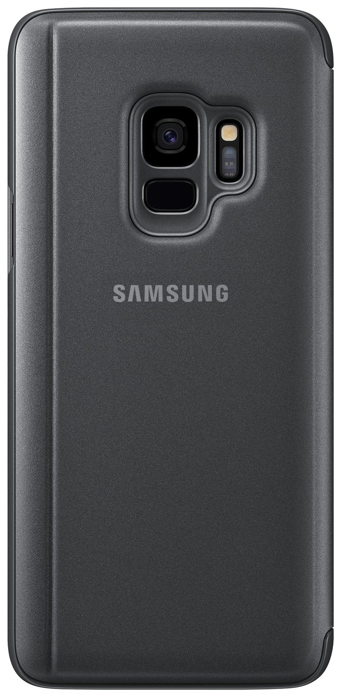 Samsung S9 Clear View Standing Cover - Black from Samsung
