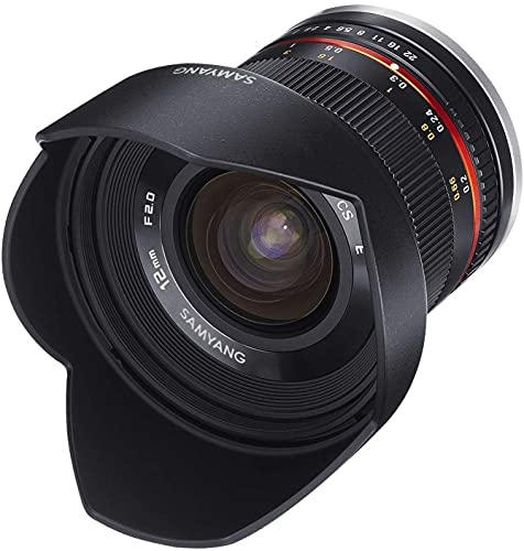 Samyang 12 mm F2.0 Manual Focus Lens for Canon M - Black from Samyang