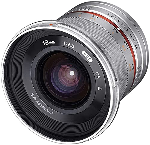 Samyang 12 mm F2.0 Manual Focus Lens for Sony-E - Silver from Samyang