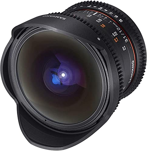 Samyang 12 mm T3.1 Fisheye VDSLR Manual Focus Video Lens for Nikon from Samyang