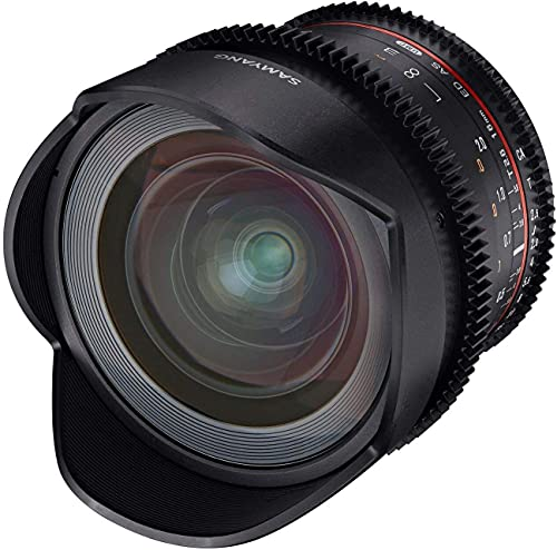 Samyang 16 mm T2.6 VDSLR Manual Focus Video Lens for Canon Camera - Black from Samyang