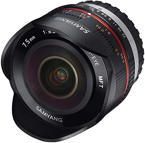 Samyang 7.5 mm Fisheye F3.5 Manual Focus Lens for Micro 4/3 - Black from Samyang