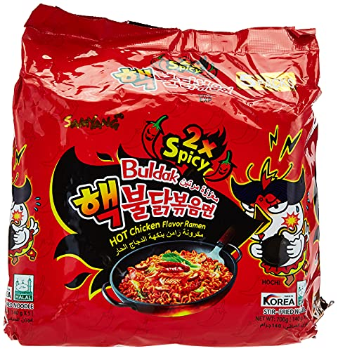 Samyang Hek Buldak Extra Spicy Roasted Chicken Ramen Nuclear Edition 5 Pack from Samyang
