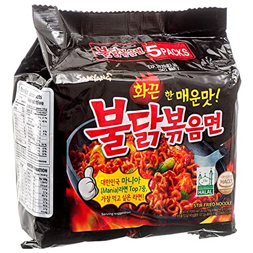 Samyang Dried Noodle Buldak Bag Noodles,140g (Pack of 5) from SAMYANG