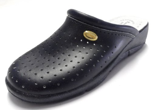 Ladies San Malo leather clog mules NAVY size 3 from San Malo
