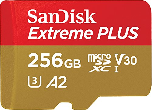 SanDisk Extreme PLUS 256 GB microSDXC Memory Card + SD Adapter with A2 App Performance up to 170 MB/s, Class 10, U3, V30 from SanDisk