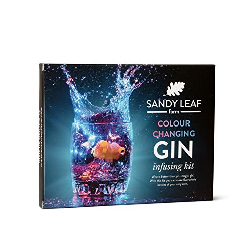 Colour Changing Gin Infusing Kit - Make a whopping Five Bottles of Your own Magically Colour Changing Gin - Amazing Gift for Gin and Cocktail Lovers from Sandy Leaf Farm