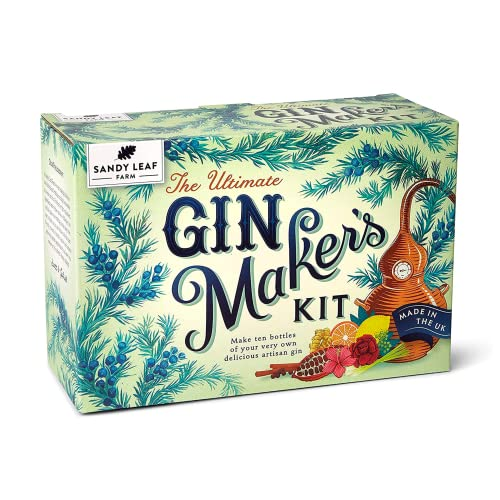 Sandy Leaf Farm Ultimate Gin Maker's Kit - Make eight big bottles of your own gin - Flavours including classic citrus, chocolate orange, pink, Christmas and more from Sandy Leaf Farm