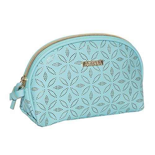 Sanjo Astrea Medium Cosmetic Bag with Gold Pattern, 17 cm, Blue from Sanjo Astrea